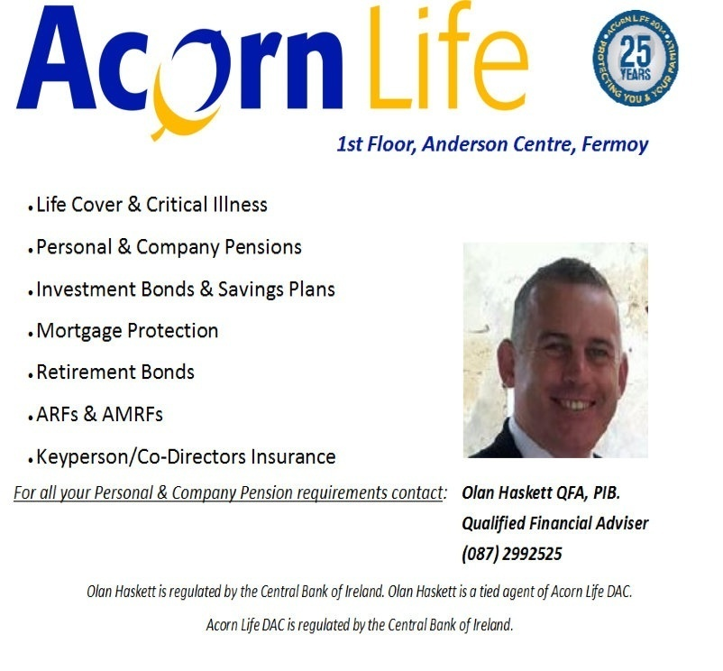 Olan Haskett Acorn Life Macroom Golf Club